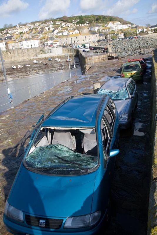Sea Damaged Cars - Mousehole