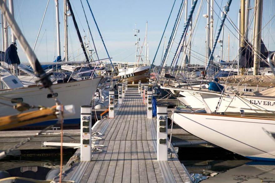 Yachts Moored at Mylor Marina