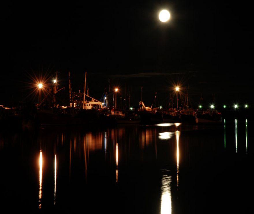 Newlyn Harbour - Full Moon