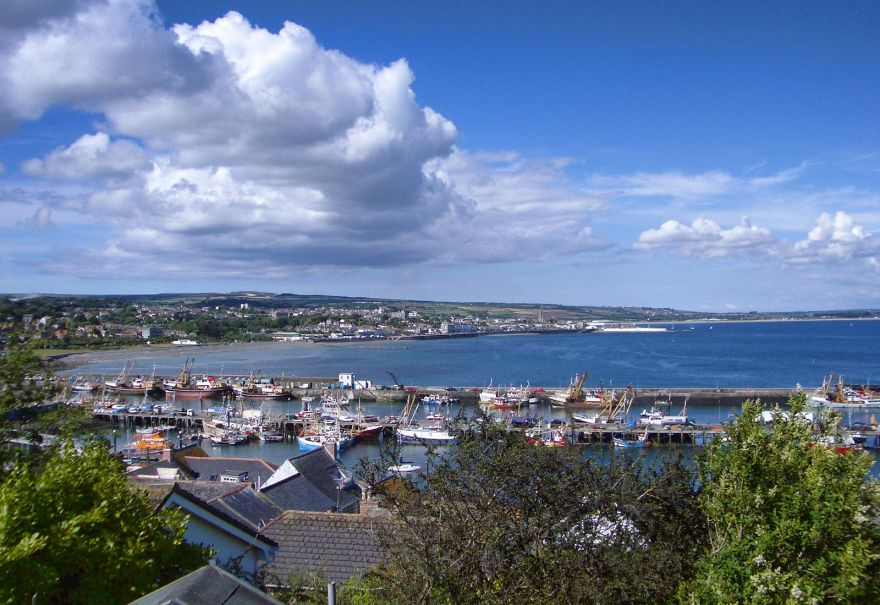 View from Newlyn to Penzance