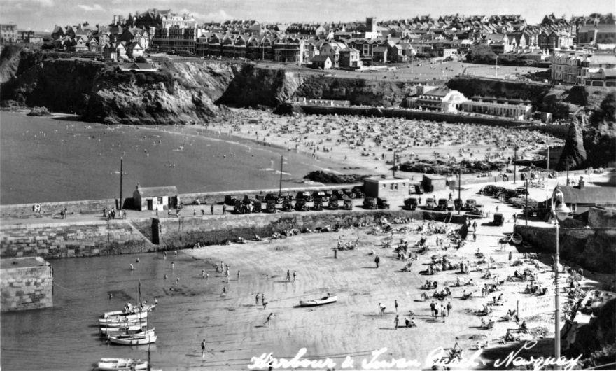Newquay Harbour Beach -1930s