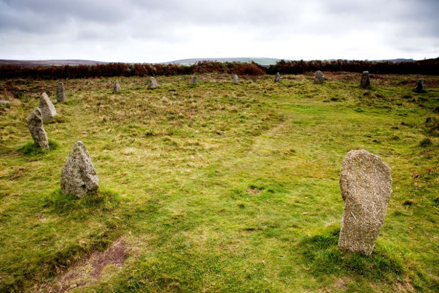 The Dancing Stones Circle - Tregeseal