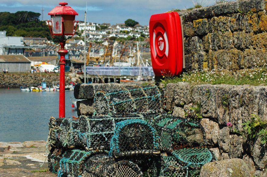 Crabpots on Newlyn Quay