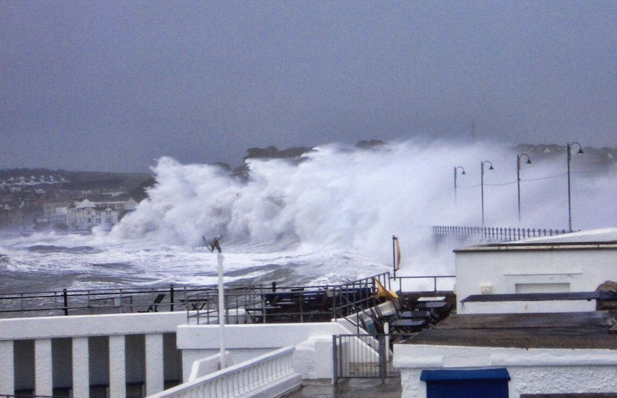 Penzance Promenade During October Storm