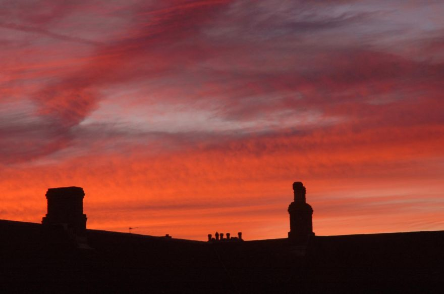 Red Sky over Penzance