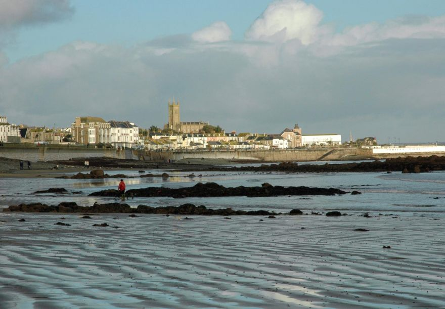 Penzance Sea Front from the Beach