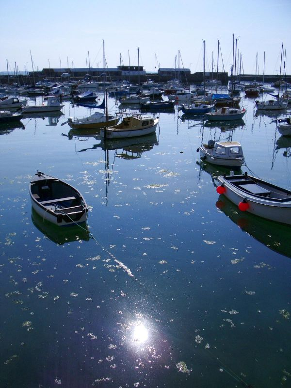 Penzance Harbour in the morning