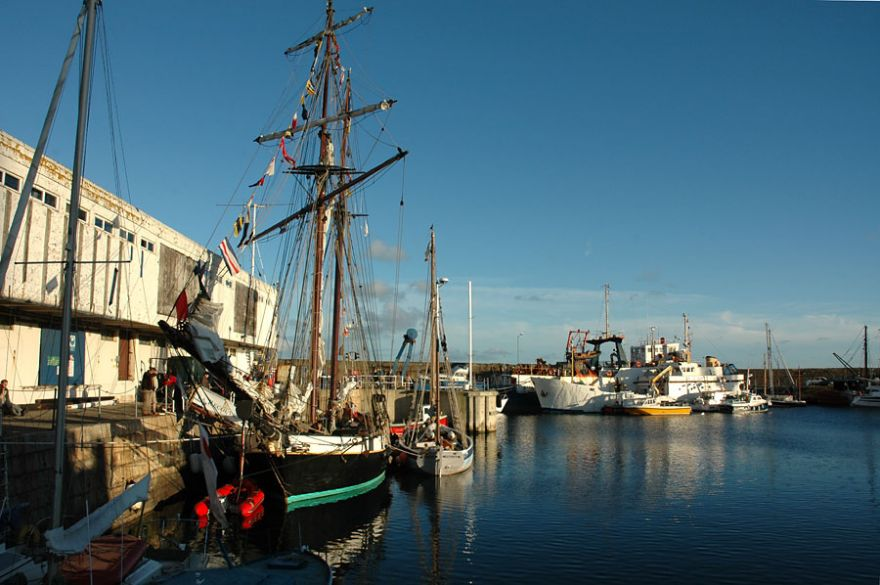Tall Ship in Penzance Harbour