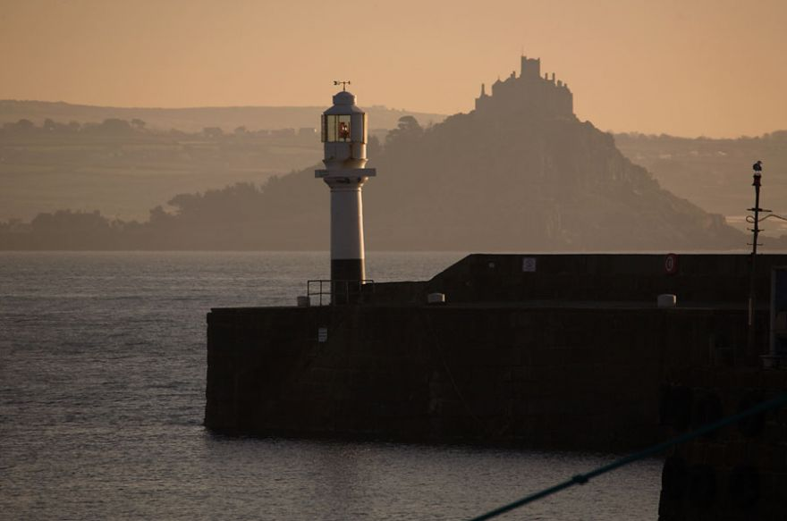 Penzance Lighthouse and the Mount