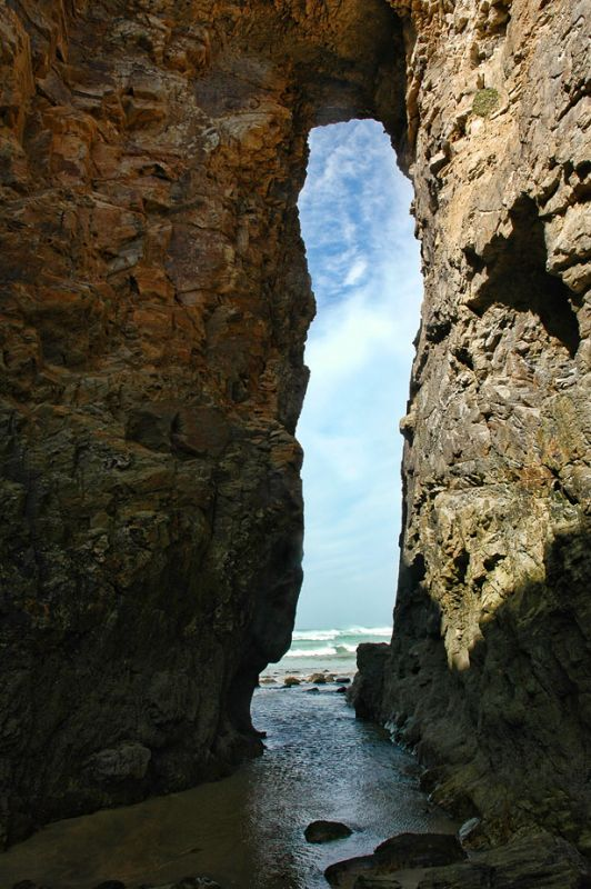 View through the arch - Perranporth