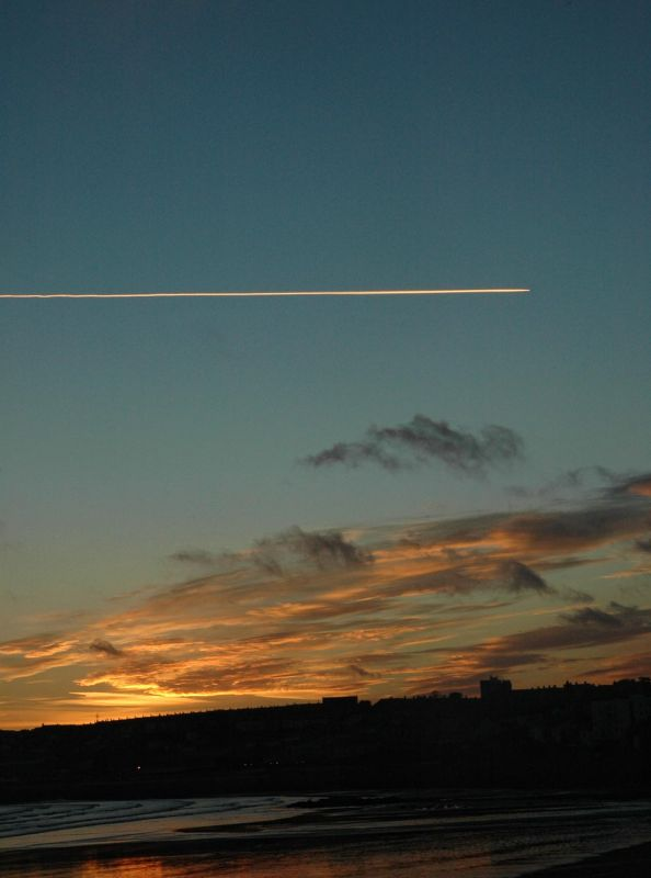 Aeroplane Trail over Penzance