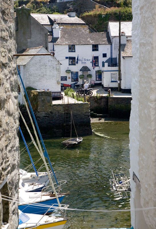 Glimpse across Polperro Harbour