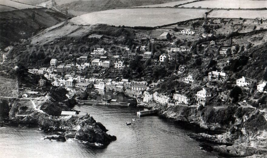 Polperro 1950s Aerial View Cornwall Guide