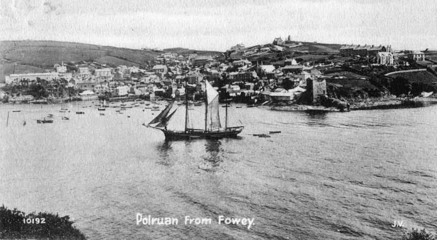 Polruan from Fowey - Early 1900s