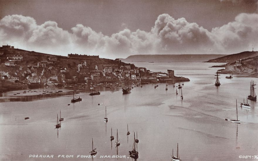 Fowey River and Polruan - Early 1900s