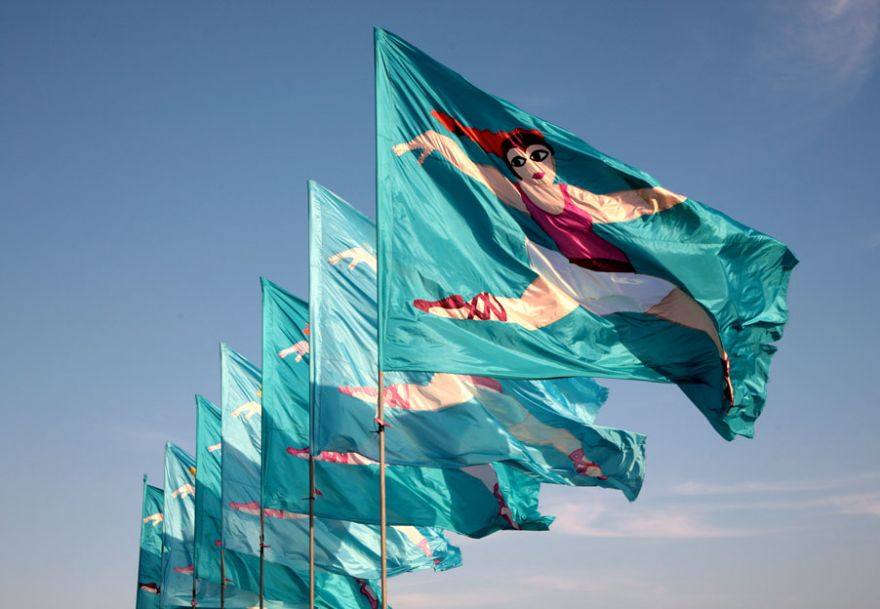 Jubilee Pool Flags - Penzance
