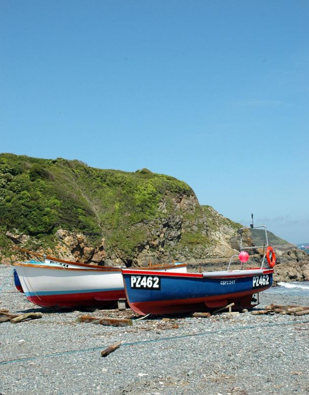 Boats on the Beach at Porthallow