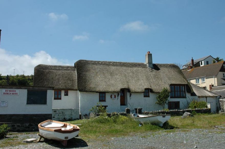 Boats and Cottage at Porthallow