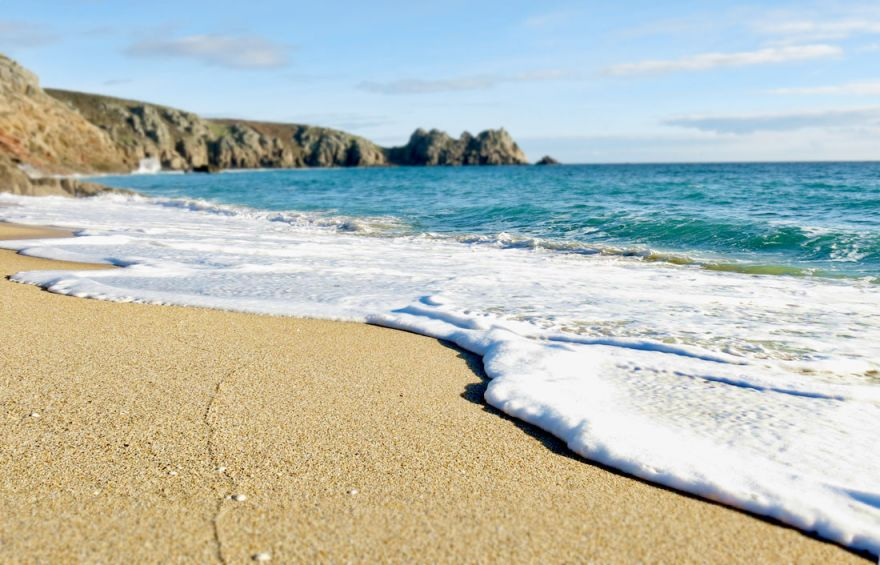 Porthcurno Cove - High tide