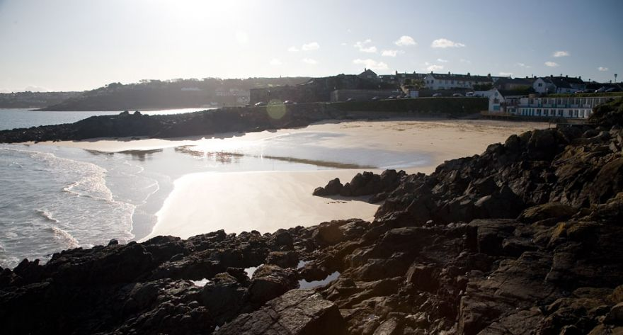 Porthgwidden Beach, St Ives - Low Tide Sun