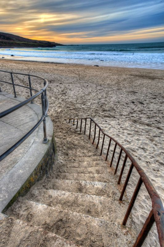 Porthmeor beach steps