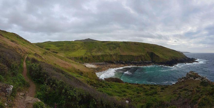 Porthmeor Cove from the Coast Path