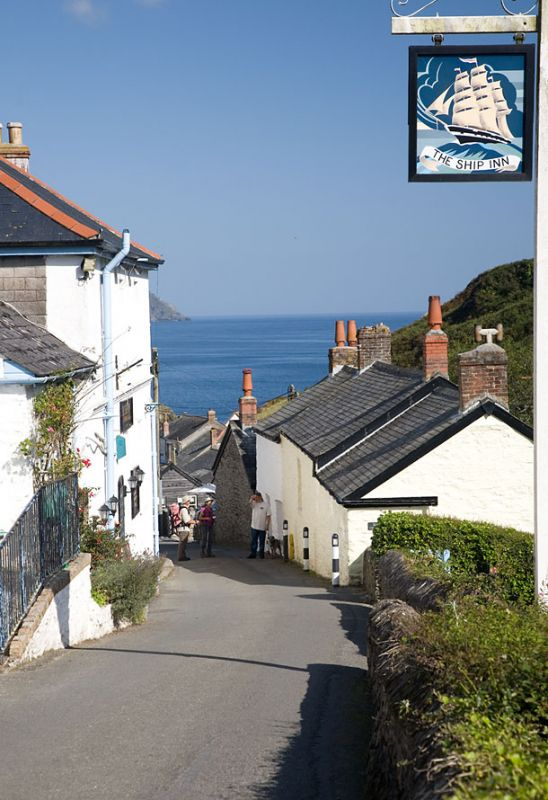 Portloe - View down the hill