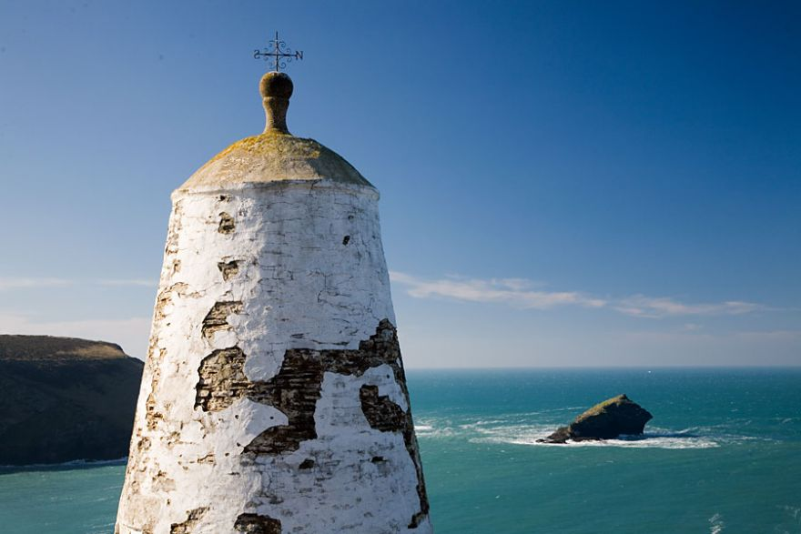 Portreath Pepperpot and Gull Rock