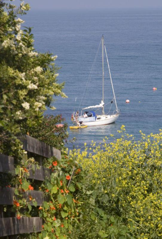Yacht off Portsatho