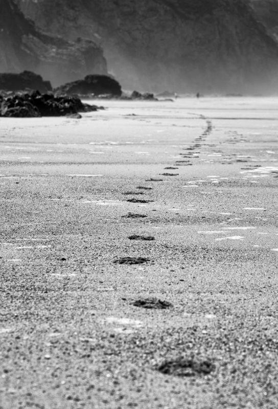 Footprints - Porthtowan beach