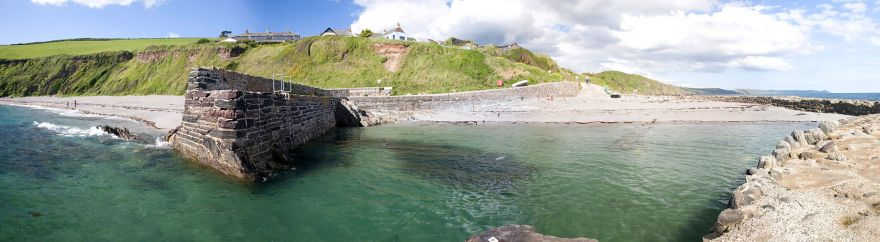 Portwrinkle Harbour Panorama