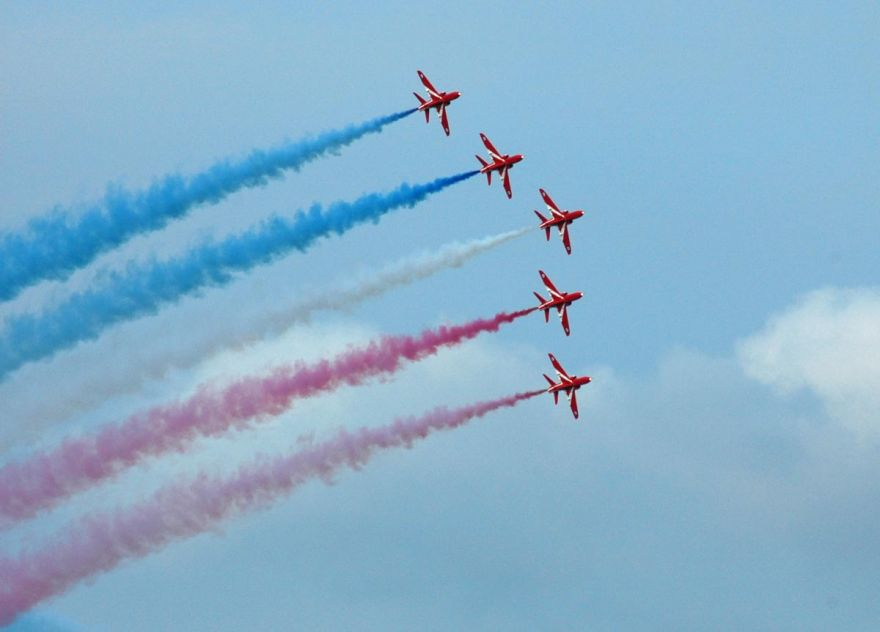 Red Arrows Over Penzance