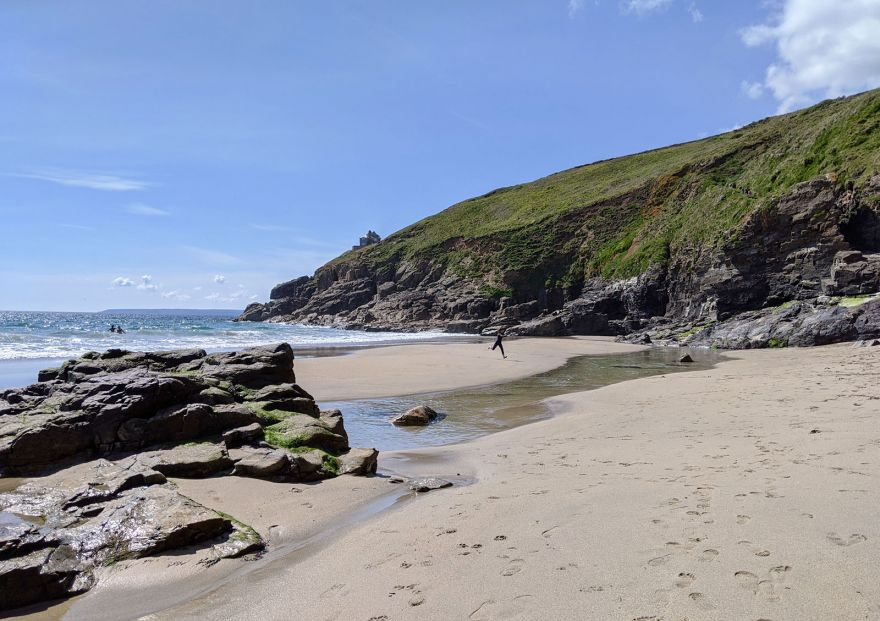 On the beach at Rinsey Cove