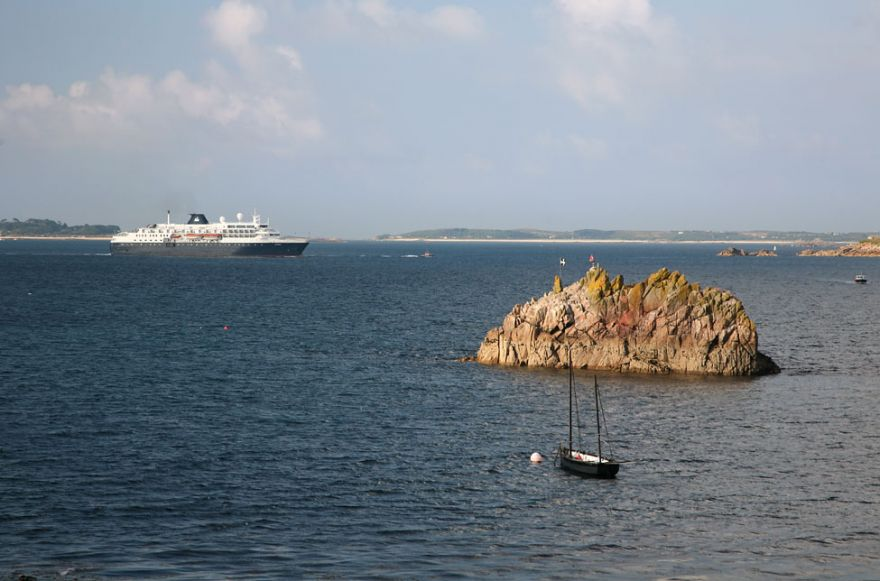 Cruise ship off Scilly