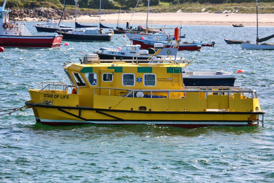 Star of Life water ambulance - Isles of Scilly