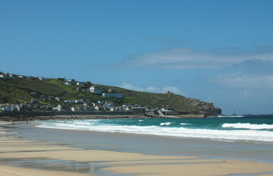 Sennen Cove Village and Beach