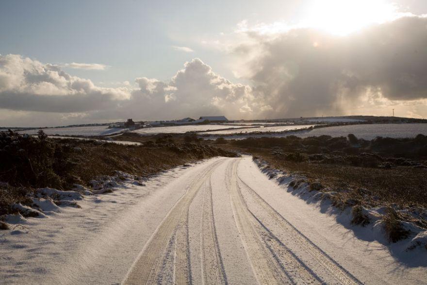 West Cornwall Snow Scene