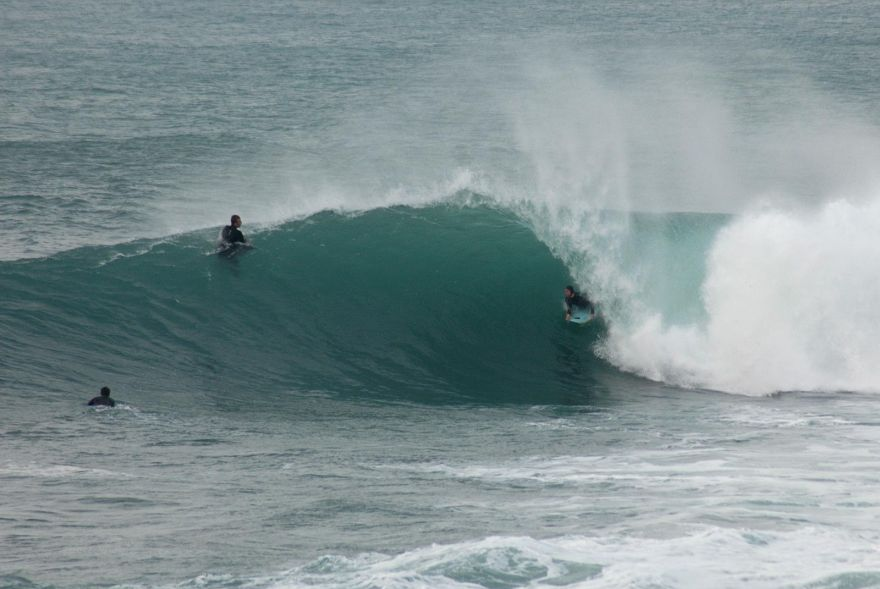 Bodyboarder Barrelled at Porthleven