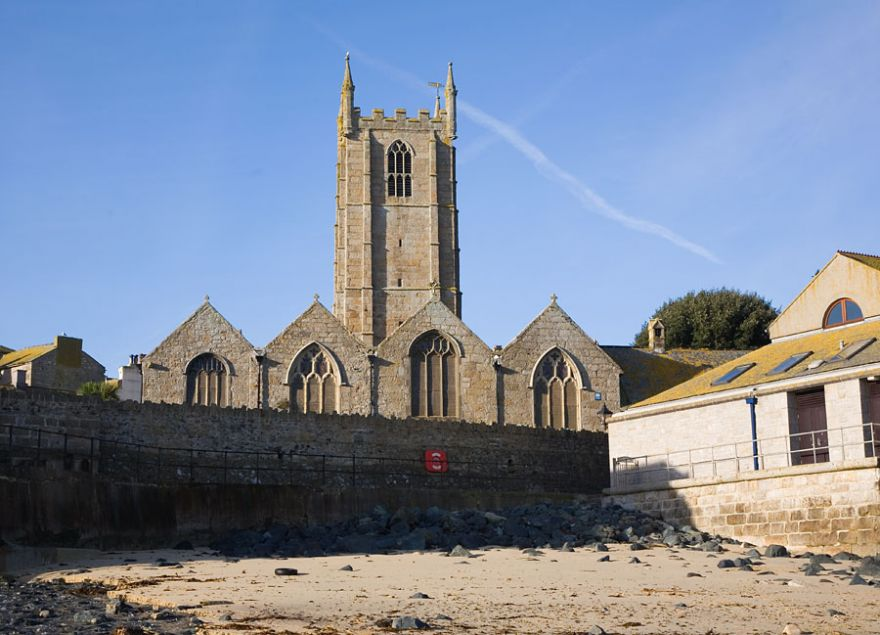 Church by the beach - St Ives