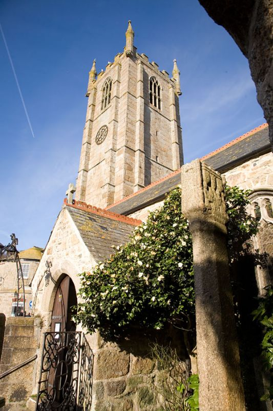 St Ives Church and Cross