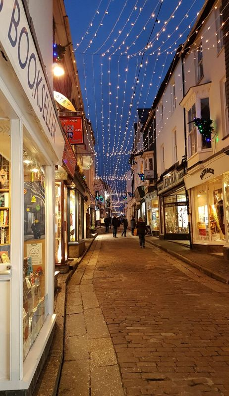 Fore Street, St Ives - Christmas Lights
