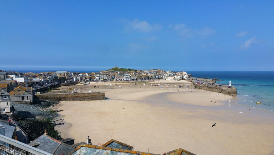 St Ives Harbour from the Malakoff