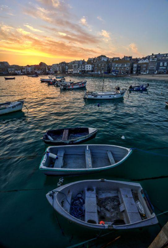 St Ives Harbour - Spring sunset