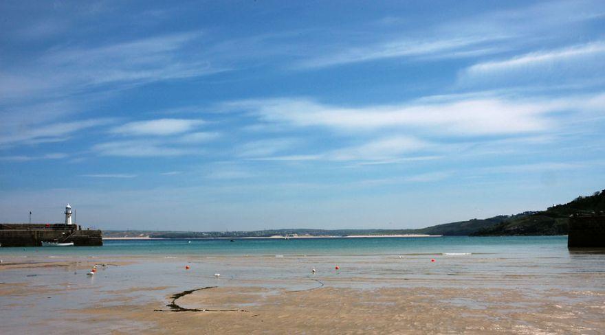 St Ives Harbour Beach - Low Tide
