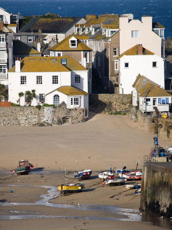 St Ives - Low tide harbour view