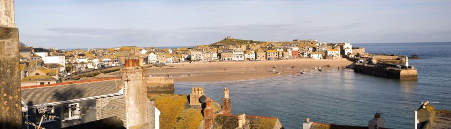 St Ives Harbour Beach Panorama