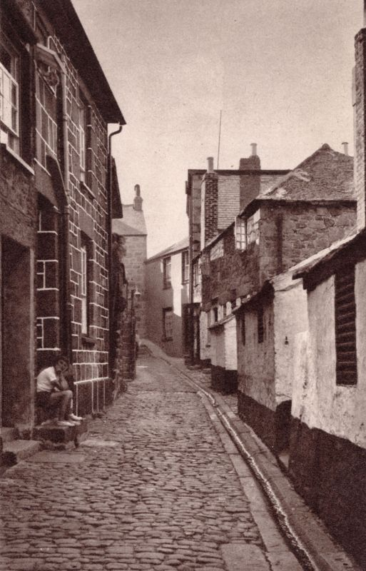 Virgin Street, St Ives - Vintage photo
