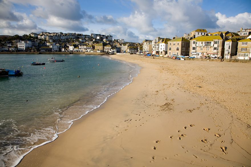 St Ives Harbour Beach - Winter