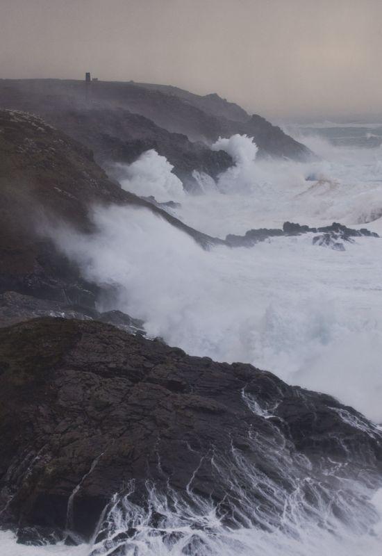 Storm Imogen - Pendeen Cliffs