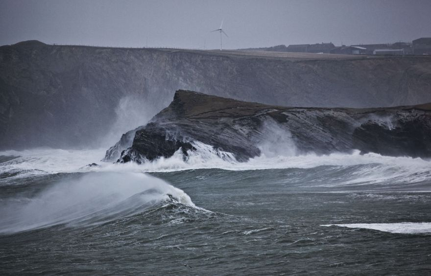 Storm in Newquay Bay